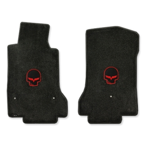 Corvette Ultimat Floor Mats - Red Jake - C6 Late 2005-2007.5 Front (Post Anchor)
