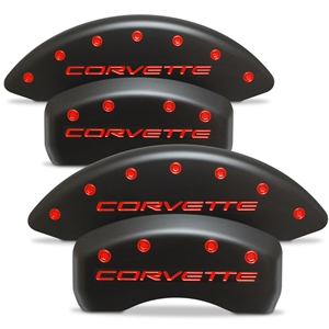 Corvette Brake Caliper Cover Set (4) : 1997-2004 C5 & Z06 - Stealth Black Series - Custom Color Letters