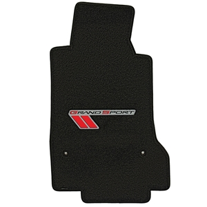 Corvette Floor Mats - Velourtex Grand Sport Logo : 2010-2013 C6 Grand Sport