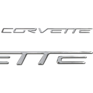 Corvette Air Bag Domed Insert Lettering - Raised (Set) : 2005-2013 C6, Z06, ZR1, Grand Sport