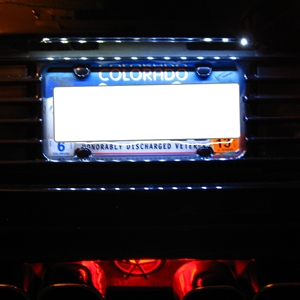 Corvette License Plate Bright White LED Strip : 1997-2004 C5