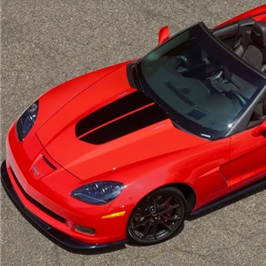 Corvette 60th Heritage Satin Black Stripe Hood Decal : 2013
