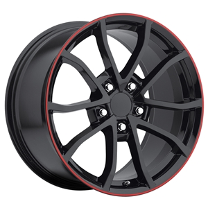2013 Corvette 60th Anniversary - 427 Centennial Special Edition Cup Style Wheels : Gloss Black w/Stripe