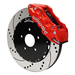 Corvette Brake Package - W6A Big Brake Caliper Red/2 Pc Rotors : 2006-2013 C6Z06, GS