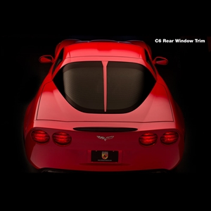 Corvette - Daytona Style Rear Window Trim : 2005-2013 C6