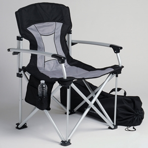 Corvette Travel Chair with C7 Stingray Logo Black/Grey