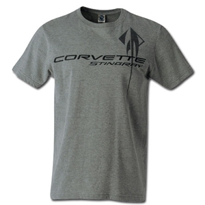C7 Corvette Stingray Chest Logo T-shirt : Heather Grey - 2014+