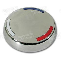 Corvette Knock-Off Center Cap. Stainless Steel: 1963-1982