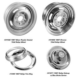 Corvette Rallye Wheels-4. Chrome: 1967