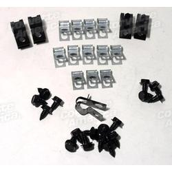 Corvette Brake Line Clips - 34 Piece Set: 1971-1973