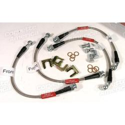Corvette Brake Line Kit. Braided Stainless Steel: 1988-1993