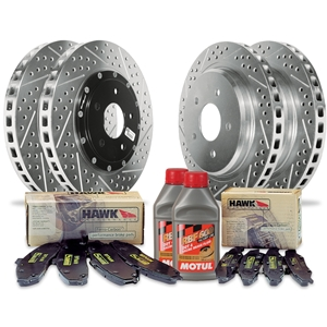 Corvette Brake Package - Baer EradiSpeed Rotors/Hawk Pads : 1997-2013 C5,C6