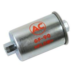Corvette Fuel Filter. GF-90 Silver w/Red Letters: 1962-1965