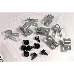 Corvette Fuel Line Clips. 16 Piece: 1971-1973