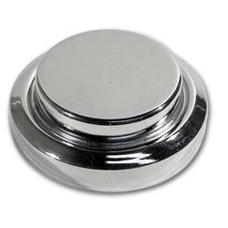 Corvette Master Cylinder Cap Cover. Chrome: 1984-1991
