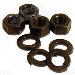 Corvette Master Cylinder Mount Nuts & Washers.: 1964-1982