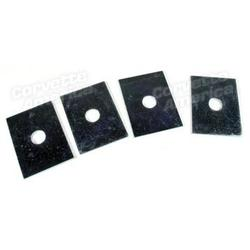 Corvette Bumper Mounting Shim Kit. 4 Piece - 58-62 Front, 58-60 Rear: 1958-1962