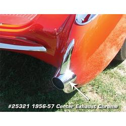 Corvette Exhaust Chrome. Center: 1956-1957