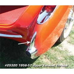 Corvette Exhaust Chrome. Upper: 1956-1957