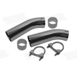 Corvette Exhaust Extensions. Curved Non-Flared: 1974-1982