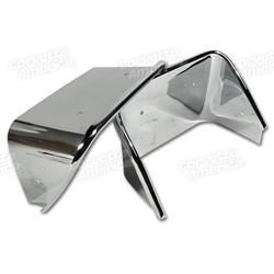 Corvette Exhaust Bezels. Chromed Stainless Steel: 1970-1973