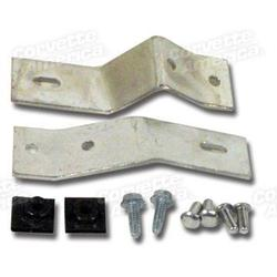 Corvette Side Exhaust Cover Hardware Set. Front: 1965-1967