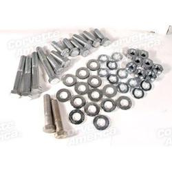 Corvette Rear Bumper Bolt Kit. Correct 46 Piece: 1958-1960