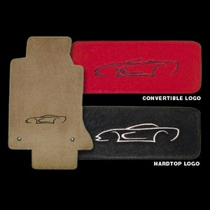 Corvette Floor Mats - Coupe Art Logo : 97-04 C5
