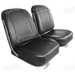 Corvette Leather Seat Covers. Black: 1963