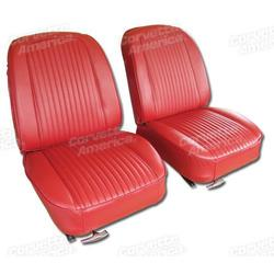 Corvette Leather Seat Covers. Red: 1963