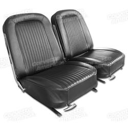 Corvette Leather Seat Covers. Black: 1964