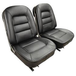 Corvette Leather Seat Covers. Black: 1965
