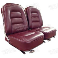 Corvette Leather Seat Covers. Maroon: 1965