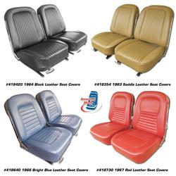 Corvette Leather Seat Covers. Bright Blue: 1965
