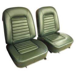 Corvette Leather Seat Covers. Green: 1966