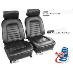 Corvette Leather Seat Covers. Black: 1966