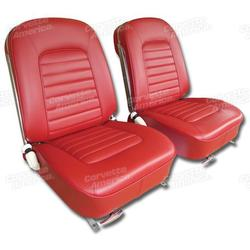 Corvette Leather Seat Covers. Red: 1966