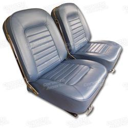 Corvette Leather Seat Covers. Bright Blue: 1966