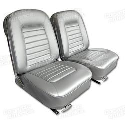 Corvette Leather Seat Covers. Silver: 1966