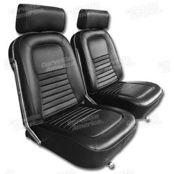 Corvette Leather Seat Covers. Black: 1967