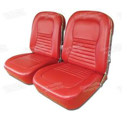 Corvette Leather Seat Covers. Red: 1967