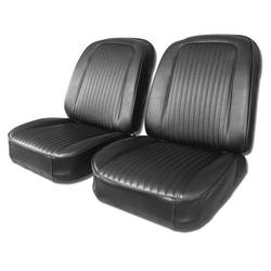 Corvette Driver Leather Seat Covers. Black: 1965