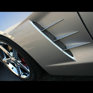 Corvette Fender Spears Billet Chrome 6 Pc. (Set) : 2005-2013 C6