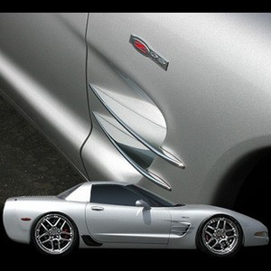 Corvette 97-04 C5 / Z06 Chrome Billet Side Spears