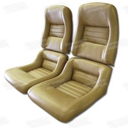 Corvette Mounted Leather Like Seat Covers. Camel 2--Bolster: 1981-1982