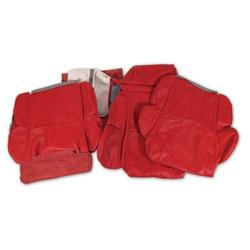 Corvette Leather Seat Covers. Red Standard: 1989-1992