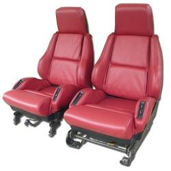 Corvette Leather Seat Covers. Red Sport: 1986-1988