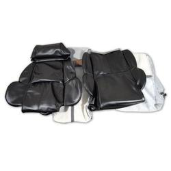 Corvette Leather Like Seat Covers. Black Standard: 1989-1992