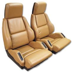 Corvette Leather Like Seat Covers. Saddle Sport: 1988