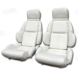 Corvette Mounted Leather Seat Covers. White Standard: 1992